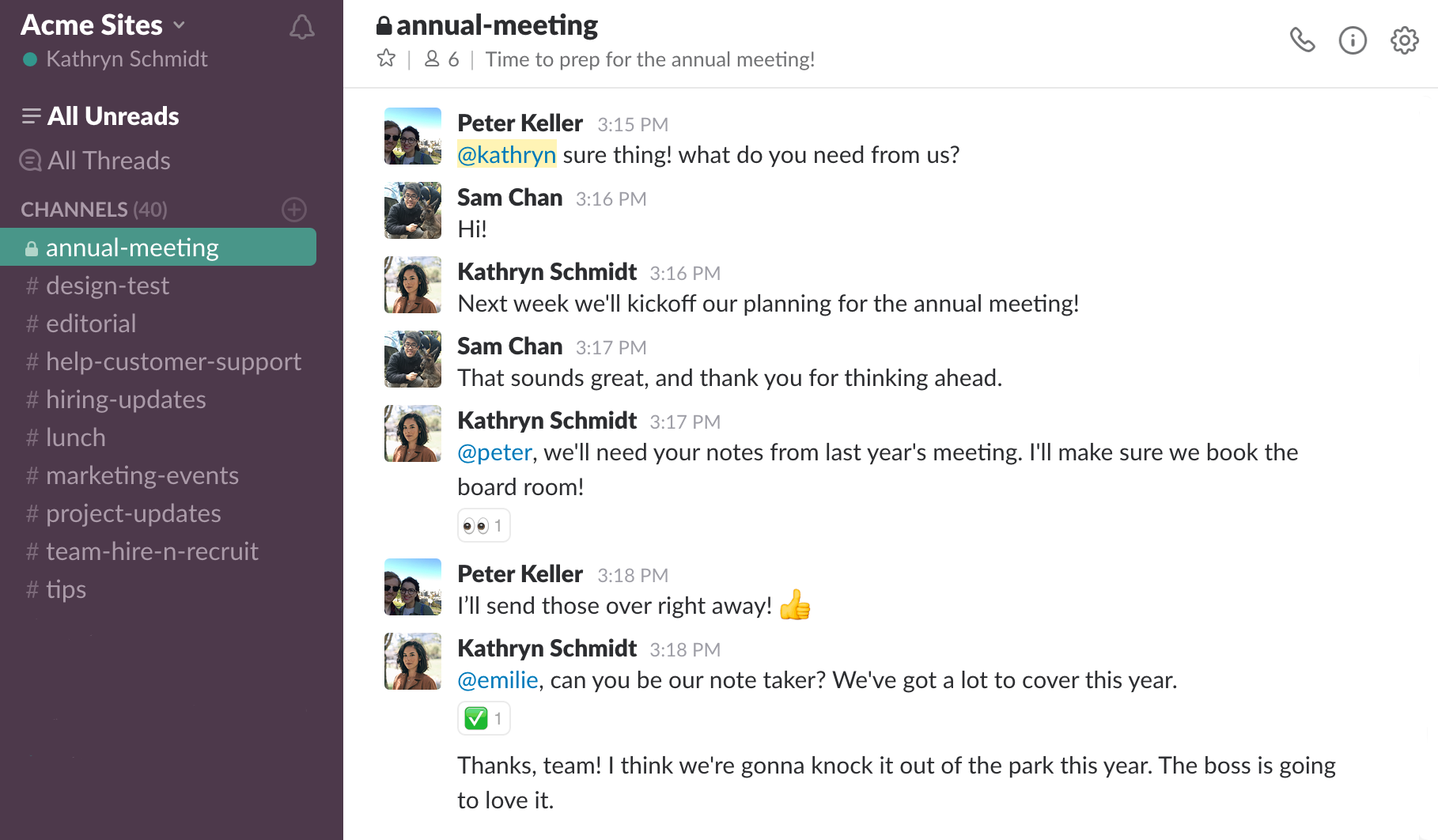 WHAT IS SLACK annual_meeting