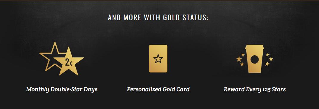starbucks rewards benefits gold status