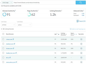 linking domains moz
