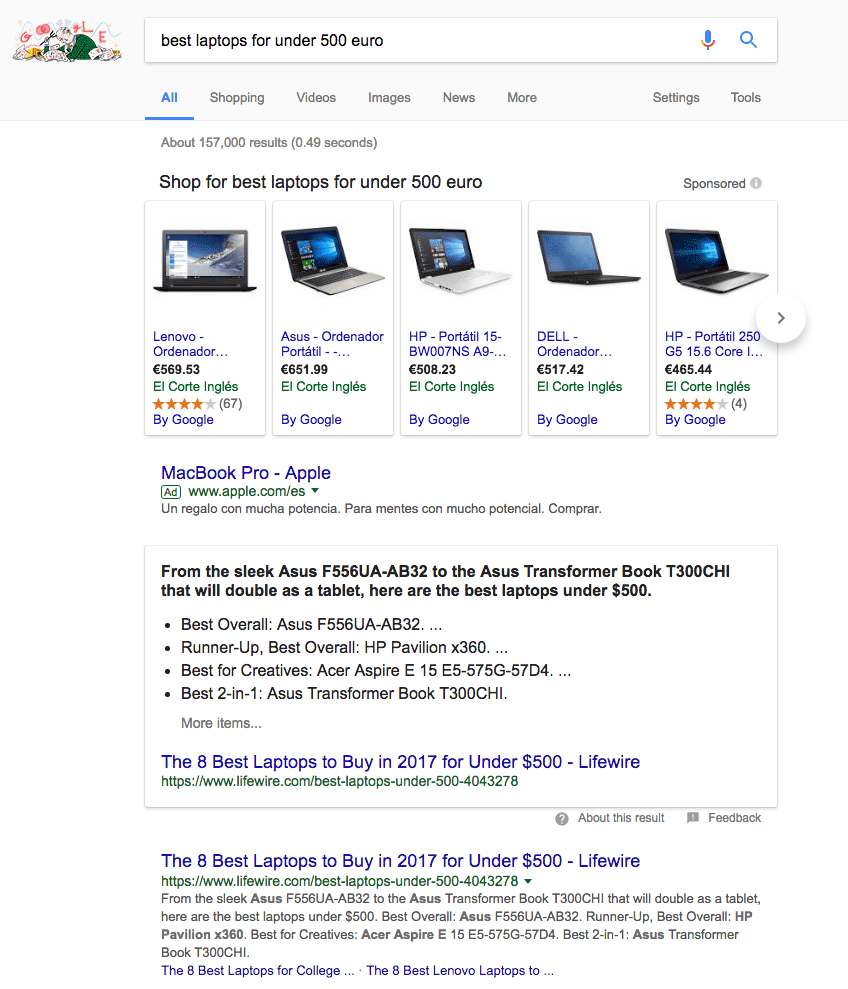 google results search engine
