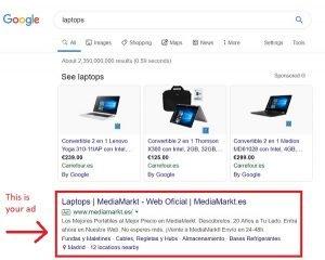 search engine marketing google text ads