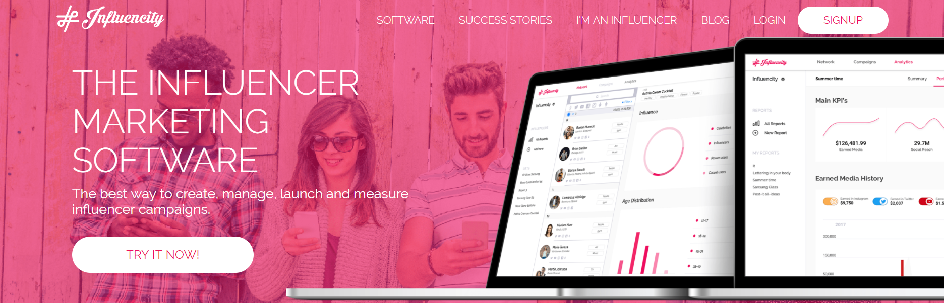 Influencity - The Influencer Marketing Software