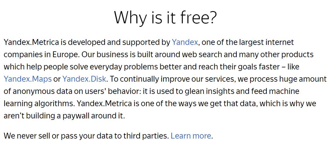 yandex metrica free tool session recording analytics