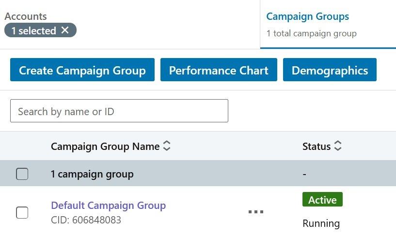 linkedin campaign group