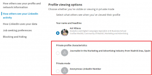 profile viewing options linkedin - linkedin premium for job seekers