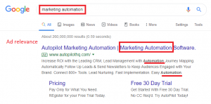 ad relevance - google ad rank - google ads quality score