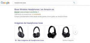 bose headphones - quality score example