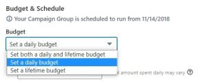 linkedin ads tips - set your budget correctly