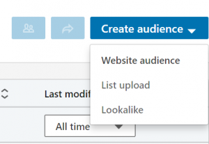create website audiences