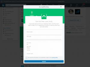 linkedin lead gen form for sponsored inmail