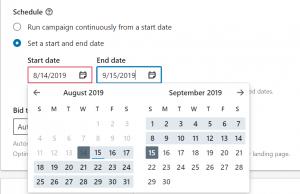 linkedin ads calendar