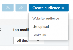 linkedin matched audiences - list upload
