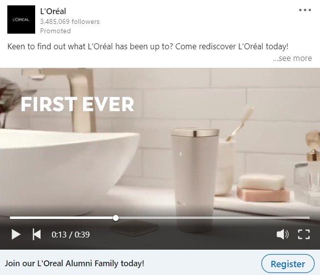 video ad linkedin
