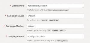 linkedin ads tips - utm tracker