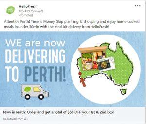 hellofresh linkedin ad examples