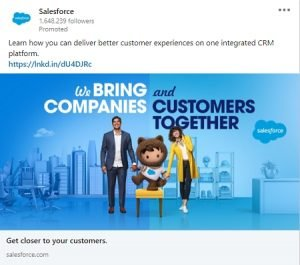 linkedin ad examples salesforce