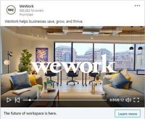 wework video linkedin example