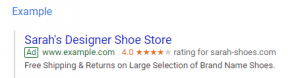 automated rating google ads extensions
