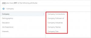 linkedin ad targeting company criteria