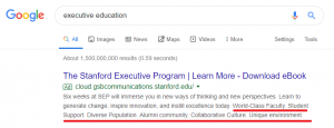 executive education callout extensions