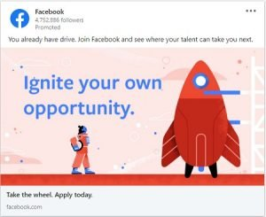 linkedin ad examples - facebook