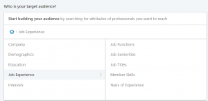 job experience segmentation linkedin