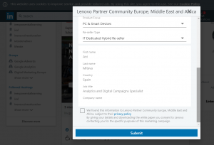 linkedin ad targeting - lead gen forms