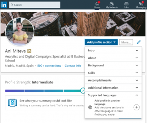 linkedin supported languages