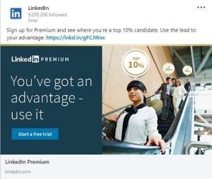 linkedin ad examples premium