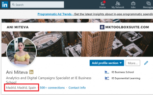 linkedin profile ad targeting