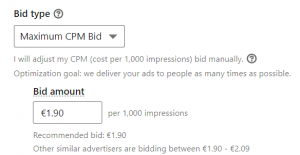 maximum cpm bid CPM brand awareness linkedin