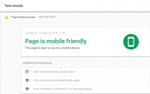 mobile friendly test reduce bounce rate