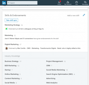 skills and endorsements section linkedin ad targeting
