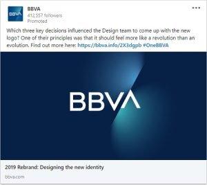 linkedin ad examples bbva