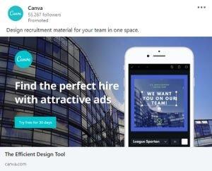 linkedin ad examples canva