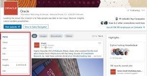 LinkedIn metrics: page views