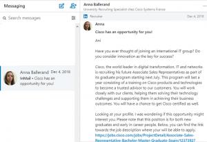 linkedin sales navigator inmail example