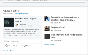 articles and activity linkedin
