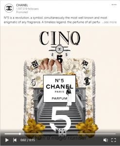 linkedin ad examples - chanel