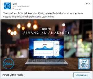 linkedin ad examples dell