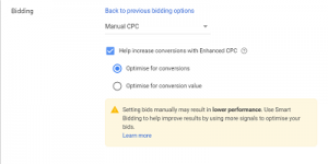 enhanced cpc google ads bidding strategies