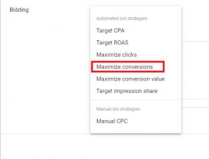 maximize conversions google ads bidding strategies