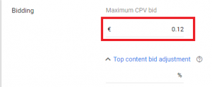 maximum cpv bid