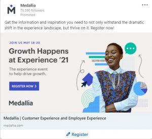 linkedin ad examples - medallia