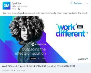 linkedin ad examples - qualtrics