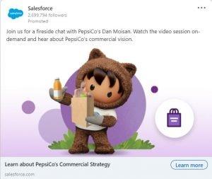 linkedin ad examples - salesforce
