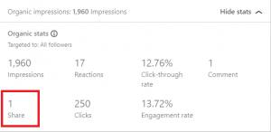 LinkedIn Metrics: Shares - LinkedIn Analytics