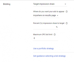 target impression share strategy