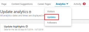linkedin analytics updates