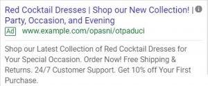write an effective google ads copy